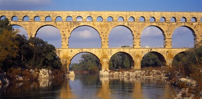 Aqueduct, Pont Du Gard, Provence-Alpes-Cote d'Azur, France Poster by Panoramic Images for $71.25 CAD