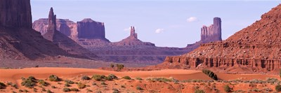View To Northwest From 1st Marker In The Valley, Monument Valley, Arizona, USA, Poster by Panoramic Images for $71.25 CAD