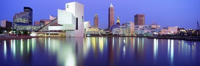 Museum, Rock And Roll Hall Of Fame, Cleveland, USA Poster by Panoramic Images for $71.25 CAD