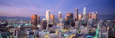 Night, Skyline, Cityscape, Los Angeles, California, USA Poster by Panoramic Images for $71.25 CAD
