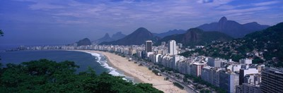 Aerial view of Copacabana Beach, Rio De Janeiro, Brazil Poster by Panoramic Images for $86.25 CAD