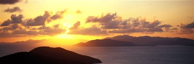Sunset Virgin Gorda British Virgin Islands Poster by Panoramic Images for $71.25 CAD