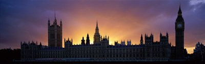 Sunset Houses of Parliament & Big Ben London England Poster by Panoramic Images for $86.25 CAD