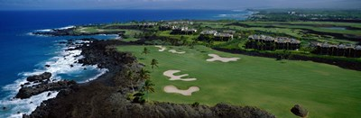 Aerial Francis H Li Brown Golf Course, Hawaii, USA Poster by Panoramic Images for $71.25 CAD