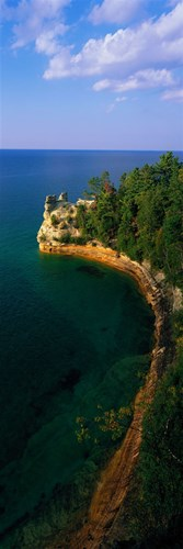 Pictured Rocks National Lake Shore Lake Superior Upper Peninsula MI USA Poster by Panoramic Images for $71.25 CAD