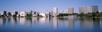 Panoramic View Of The Waterfront And Skyline, Oakland, California, USA Poster by Panoramic Images for $86.25 CAD