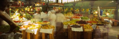 Fruits And Vegetables Market Stall, Santiago, Chile Poster by Panoramic Images for $90.00 CAD