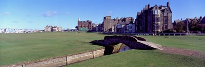 Footbridge in a golf course, The Royal and Ancient Golf Club of St Andrews, St. Andrews, Fife, Scotland Poster by Panoramic Images for $71.25 CAD