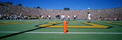 Football Game, University Of Michigan, Ann Arbor, Michigan, USA Poster by Panoramic Images for $86.25 CAD
