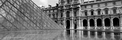 Pyramid in front of an art museum, Musee Du Louvre, Paris, France Poster by Panoramic Images for $71.25 CAD