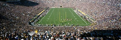 Aerial view of a football stadium, Notre Dame Stadium, Notre Dame, Indiana, USA Poster by Panoramic Images for $86.25 CAD