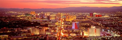 Aerial Las Vegas NV USA Poster by Panoramic Images for $71.25 CAD