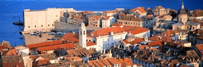 Aerial View, Old Town, Dubrovnik, Croatia Poster by Panoramic Images for $71.25 CAD