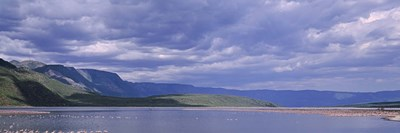 Kenya, Lake Bogoria, Panoramic view of hills around a lake Poster by Panoramic Images for $71.25 CAD