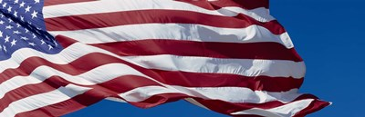 Close-up of an American flag fluttering, USA Poster by Panoramic Images for $71.25 CAD