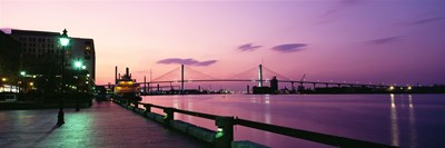 Bridge across a river, Savannah River, Atlanta, Georgia, USA Poster by Panoramic Images for $86.25 CAD
