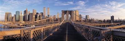 Pedestrian Walkway Brooklyn Bridge New York NY USA Poster by Panoramic Images for $86.25 CAD