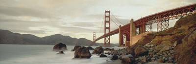 Low angel view of Golden Gate Bridge Poster by Panoramic Images for $86.25 CAD