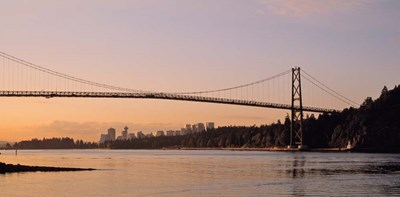 Vancouver, Lions Gate Bridge Poster by Panoramic Images for $73.75 CAD