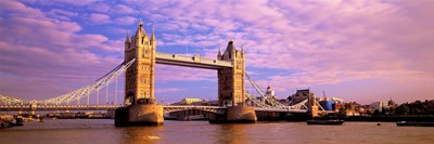 Tower Bridge London England with Purple Sky Poster by Panoramic Images for $71.25 CAD