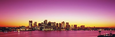 Sunset, Boston, Massachusetts, USA Poster by Panoramic Images for $71.25 CAD
