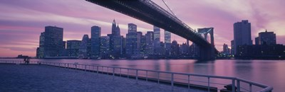 Brooklyn Bridge New York NY Poster by Panoramic Images for $71.25 CAD