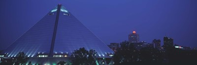 Night The Pyramid and Skyline Memphis TN USA Poster by Panoramic Images for $86.25 CAD