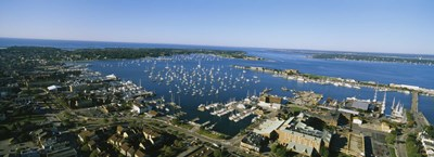 Aerial view of a harbor, Newport Harbor, Newport, Rhode Island, USA Poster by Panoramic Images for $86.25 CAD