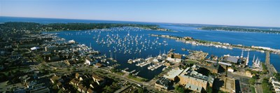 Aerial view of a harbor, Newport Harbor, Newport, Rhode Island, USA Poster by Panoramic Images for $71.25 CAD