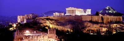 Acropolis at Night Poster by Panoramic Images for $71.25 CAD