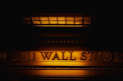 11 Wall St. Building Sign Poster by Panoramic Images for $62.50 CAD