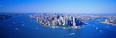 Aerial Lower Manhattan New York City NY Poster by Panoramic Images for $86.25 CAD