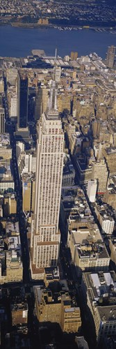 Aerial View Of Empire State Building, Manhattan, NYC, New York City, New York State, USA Poster by Panoramic Images for $86.25 CAD