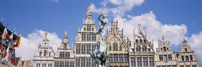 Low angle view of buildings, Grote Markt, Antwerp, Belgium Poster by Panoramic Images for $86.25 CAD