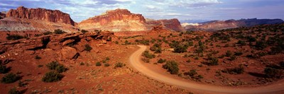 Desert Road, Utah, USA Poster by Panoramic Images for $71.25 CAD