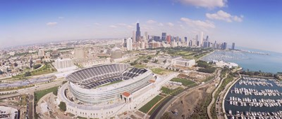 Aerial view of a stadium, Soldier Field, Chicago, Illinois Poster by Panoramic Images for $86.25 CAD