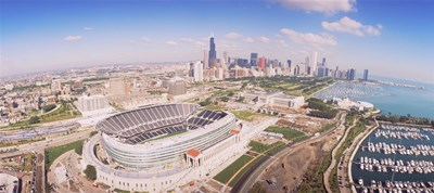 Aerial view of a stadium, Soldier Field, Chicago, Illinois Poster by Panoramic Images for $71.25 CAD