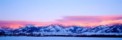 Bridger Mountains Sunset, Montana Poster by Panoramic Images for $90.00 CAD