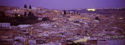 Fes, Morocco at dusk Poster by Panoramic Images for $86.25 CAD