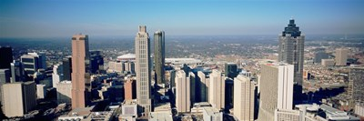 Aerial view of Atlanta skyscrapers, Georgia Poster by Panoramic Images for $86.25 CAD