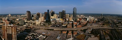 Aerial view of a city, Dallas, Texas, USA Poster by Panoramic Images for $86.25 CAD