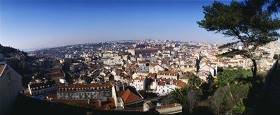 Aerial view of a city, Lisbon, Portugal Poster by Panoramic Images for $67.50 CAD