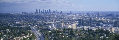 Aerial view of a city, Los Angeles, California, USA Poster by Panoramic Images for $86.25 CAD