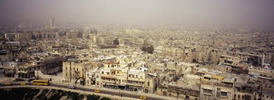Aerial view of a city in a sandstorm, Aleppo, Syria Poster by Panoramic Images for $67.50 CAD