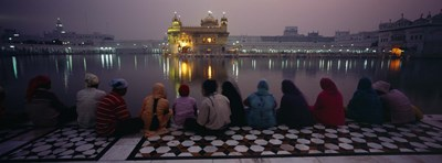 Group of people at a temple, Golden Temple, Amritsar, Punjab, India Poster by Panoramic Images for $86.25 CAD