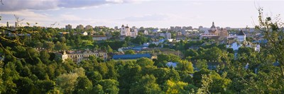 High angle view of a city, Vilnius, Trakai, Lithuania Poster by Panoramic Images for $71.25 CAD