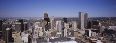 Aerial view of Skyscrapers in Denver, Colorado, USA Poster by Panoramic Images for $86.25 CAD