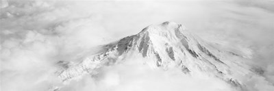 Aerial view of a snowcapped mountain, Mt Rainier, Mt Rainier National Park, Washington State, USA Poster by Panoramic Images for $71.25 CAD