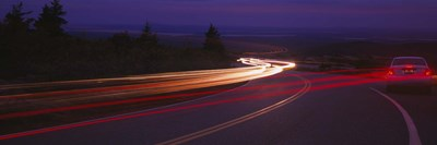 Cars moving on the road, Mount Desert Island, Acadia National Park, Maine, USA Poster by Panoramic Images for $86.25 CAD