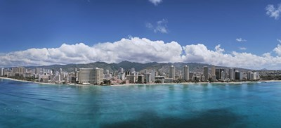 Buildings at the Honolulu, Oahu, Hawaii Waterfront Poster by Panoramic Images for $86.25 CAD